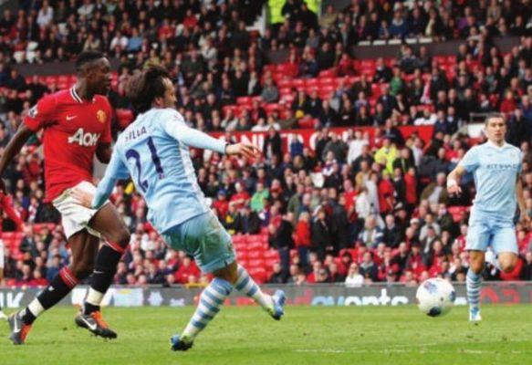 man utd away 2011 to 12 silva goal 5-1