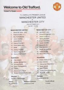man utd away 2011 to 12 team sheet