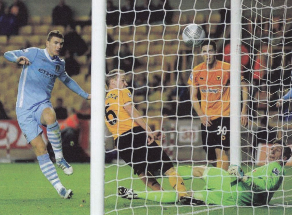 wolves carling cup 2011 to 12 dzeko goal53