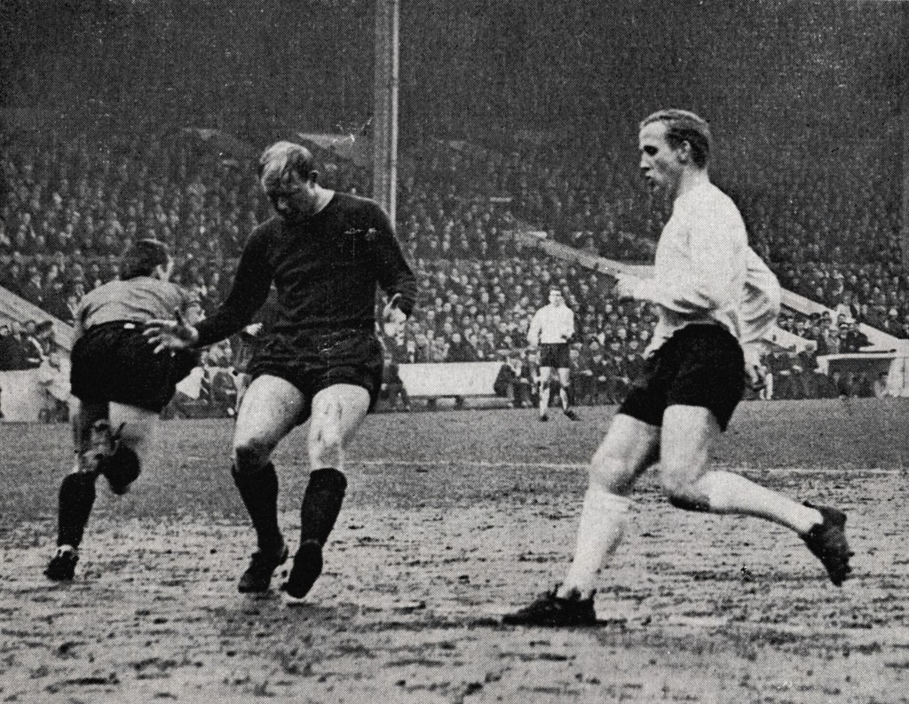 everton home fa cup 1965 to 66 action
