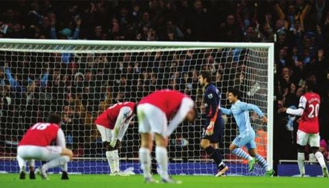 arsenal carling cup 2011 to 12 aguero goal