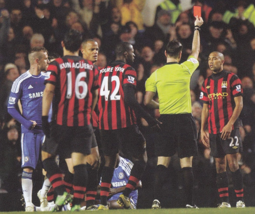 chelsea away 2011 to 12 clichy sent off7