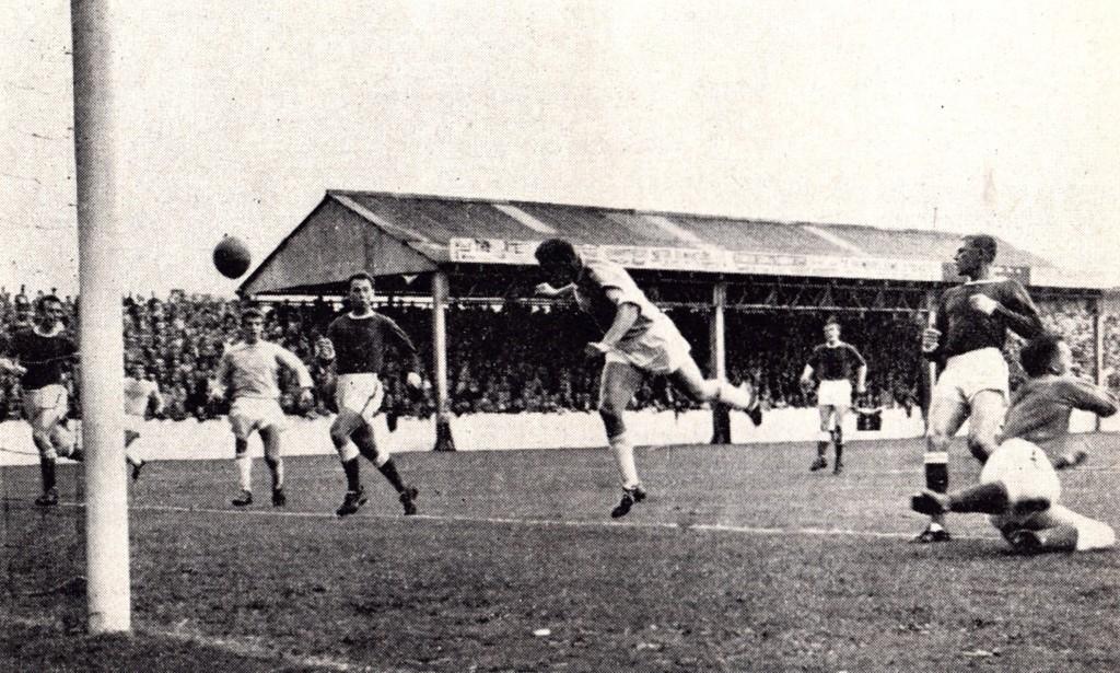 rotherham away 1963 to 64 1st Kevan goal