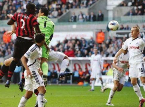 swansea away 2011 to 12 micah disallowed goal