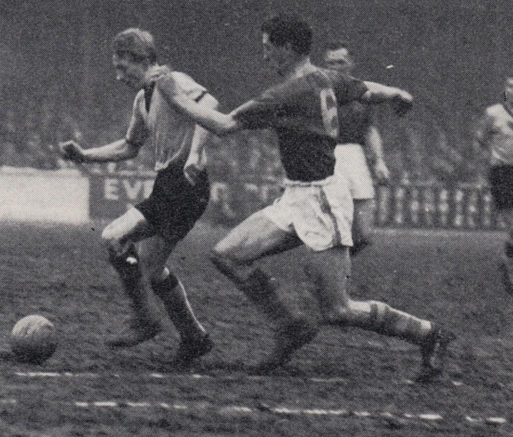 leeds away 1959 to 60 law debut goal