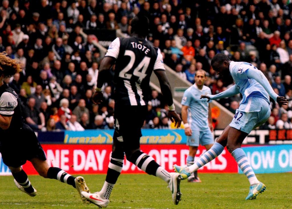 newcastle away 2011 to 12 yaya goal 57