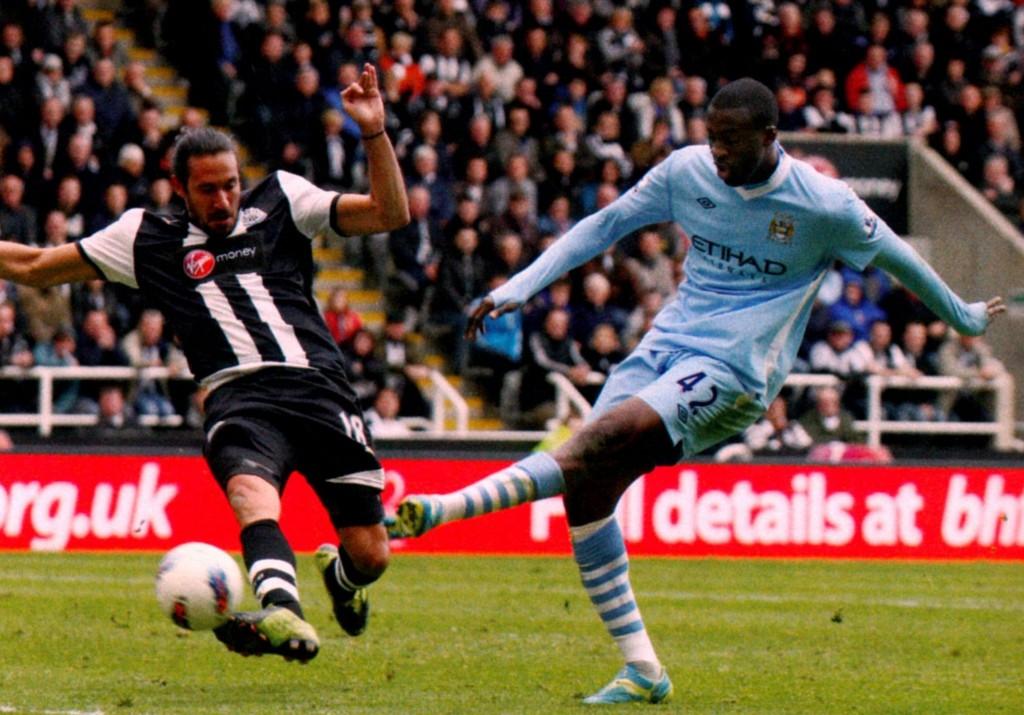 newcastle away 2011 to 12 yaya goal 75