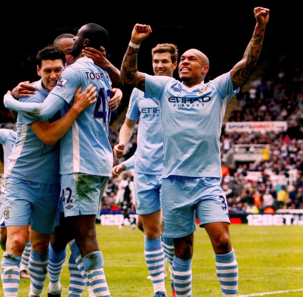 newcastle away 2011 to 12 yaya goal celeb87