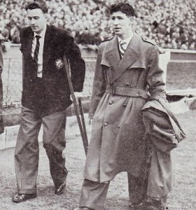 FA CUP FINAL 1954 to 55 hart and clarke after final