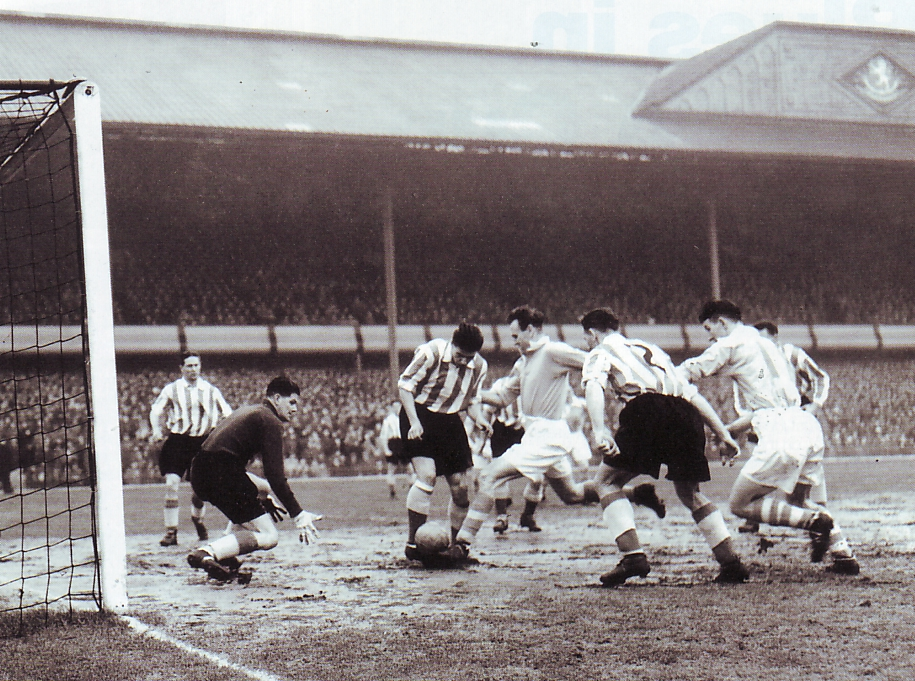 sunderland fa cup semi 1954 to 55 action