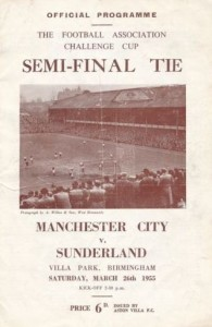 sunderland fa cup semi 1954 to 55 semi prog