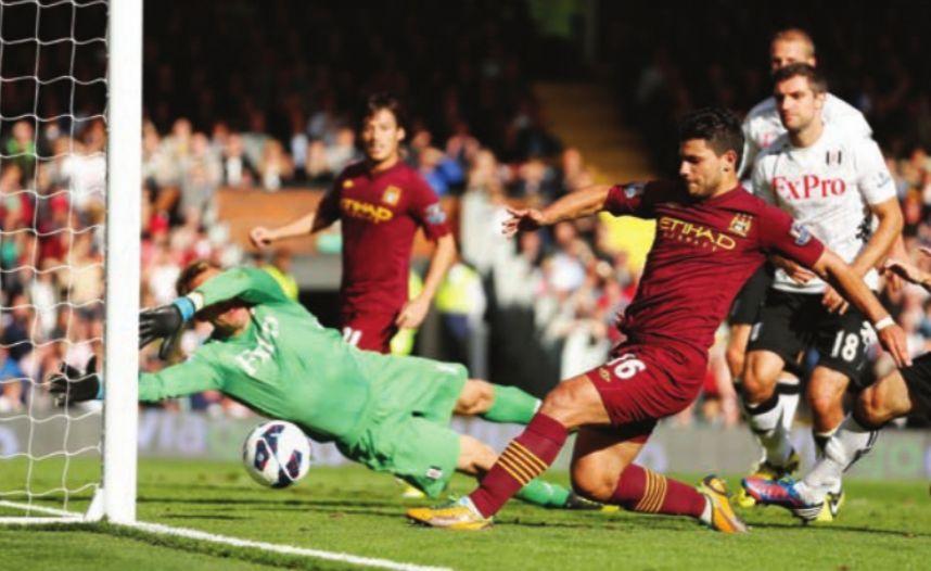 fulham away 2012 to 13 aguero goal