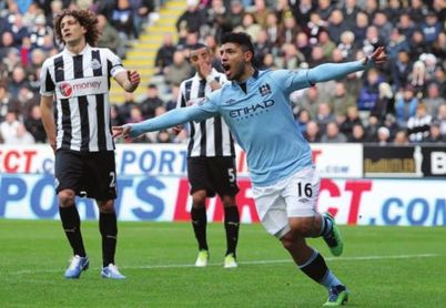 newcastle away 2012 to 13 aguero goal