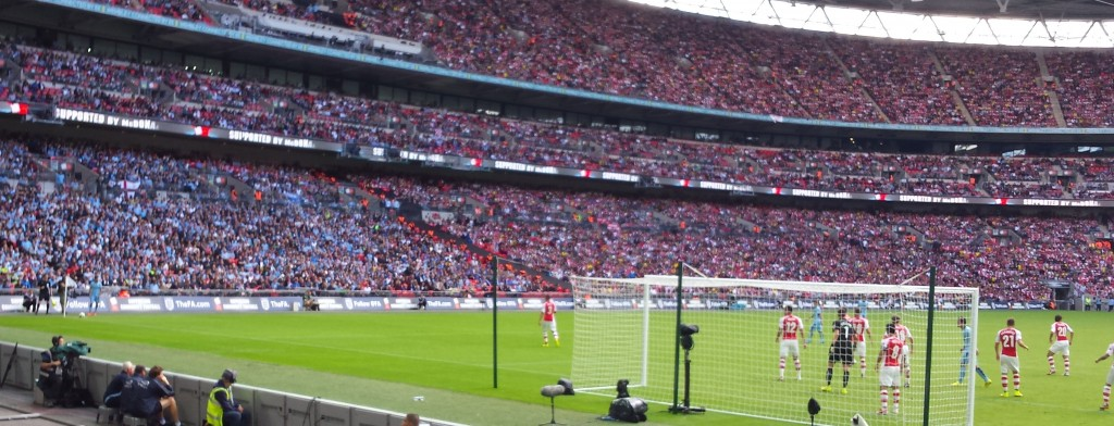 arsenal community shield 2014 to 15 action