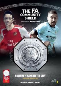 arsenal community shield 2014 to 15 prog