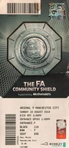 arsenal community shield 2014 to 15 ticket