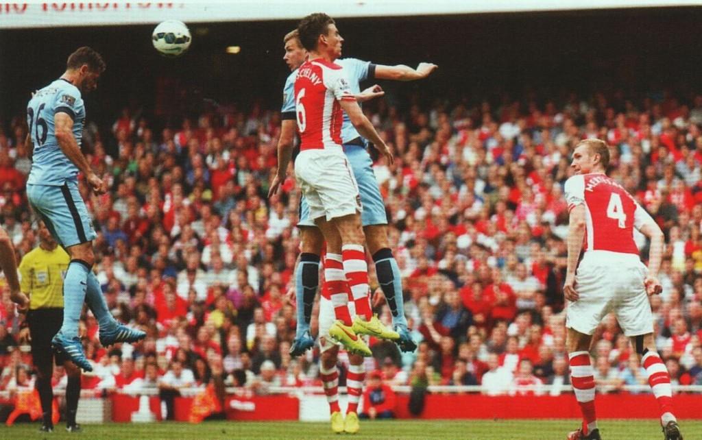 arsenal away 2014 to 15 demichelis goal