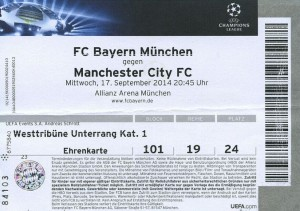 bayern munich away 2014 to 15 ticket