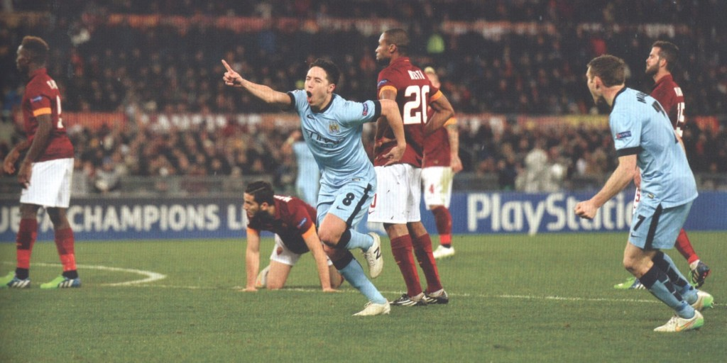 roma away 2014 to 15 nasri goal