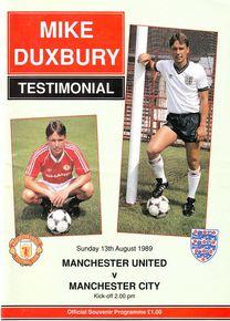 man utd duxbury testimonial 1989 to 90 prog