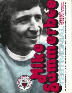 mike summerbee testimonial 1975 to 76 prog