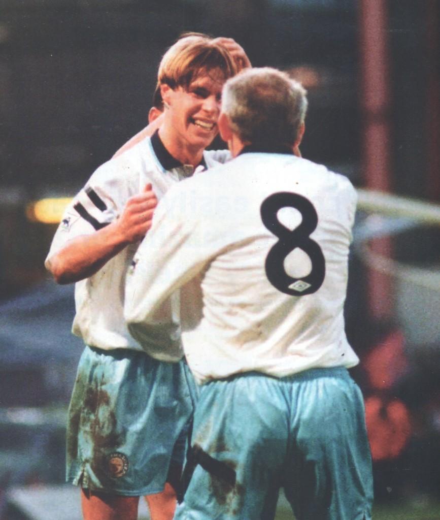 psv away friendly 1993 to 94 flitcroft goal