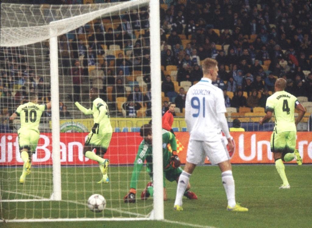 dynamo kiev away 2015 to 16 aguero goal