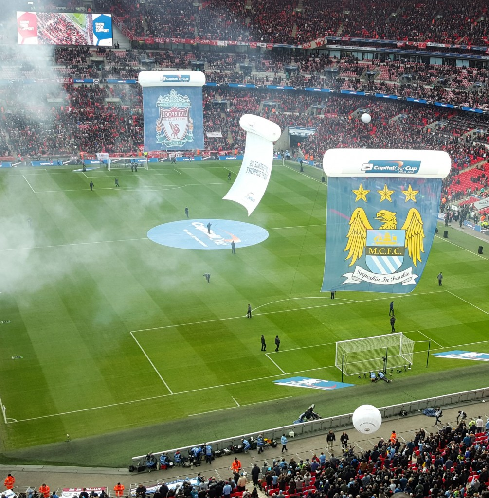 liverpool capital one cup final 2015 to 16 wembley pitch banners