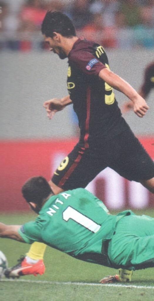 steaua bucharest away 2016 to 17 nolito goal