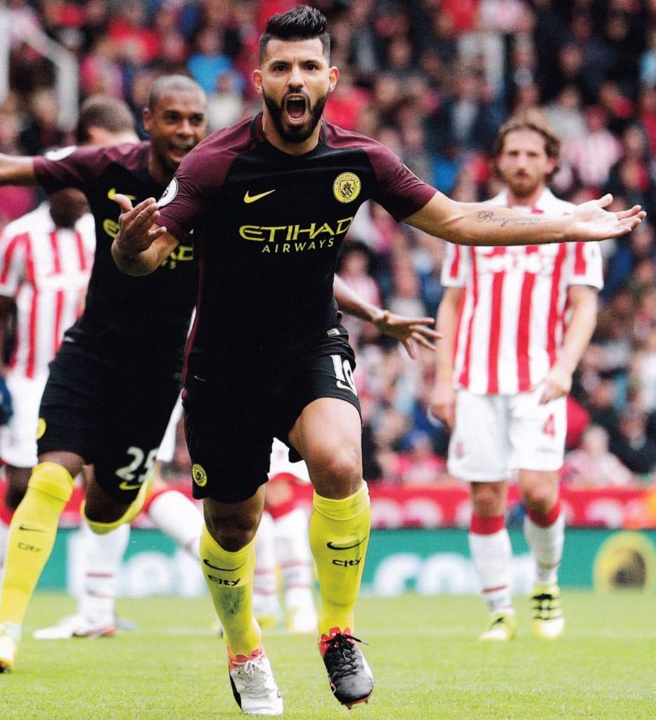 stoke away 2016 to 17 aguero goals