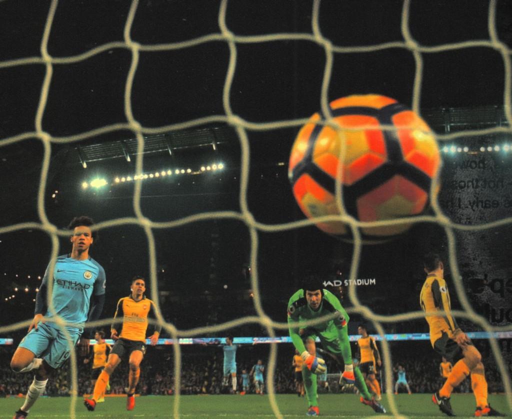 arsenal home 2016 to 17 sane goal