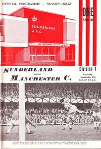 sunderland away 1968 to 69 prog