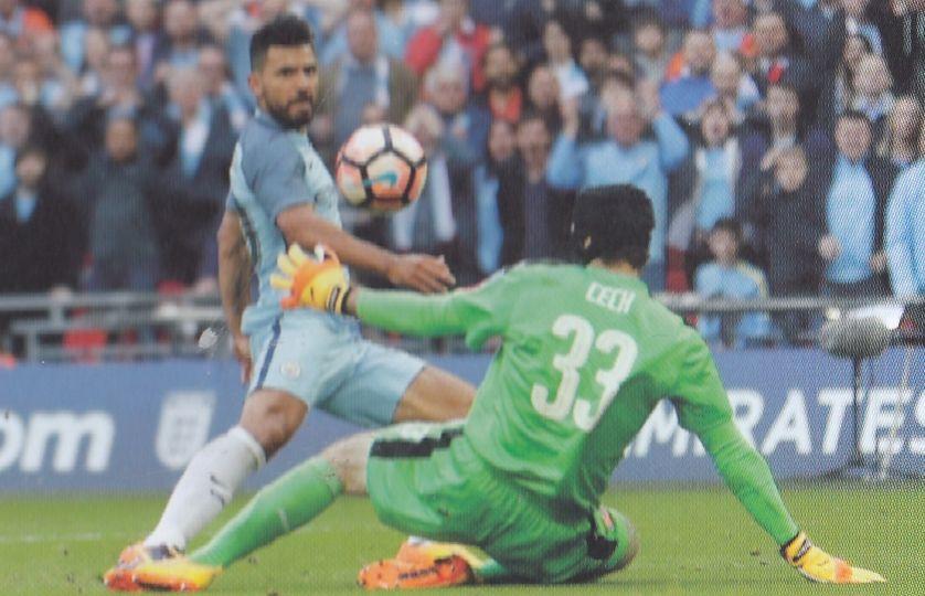Arsenal FA Cup semi 2016 to 17 aguero goal