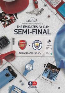 Arsenal FA Cup semi 2016 to 17 prog