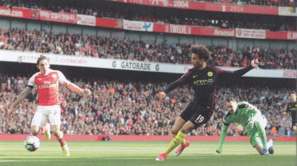 arsenal away 2016 to 17 sane goal2
