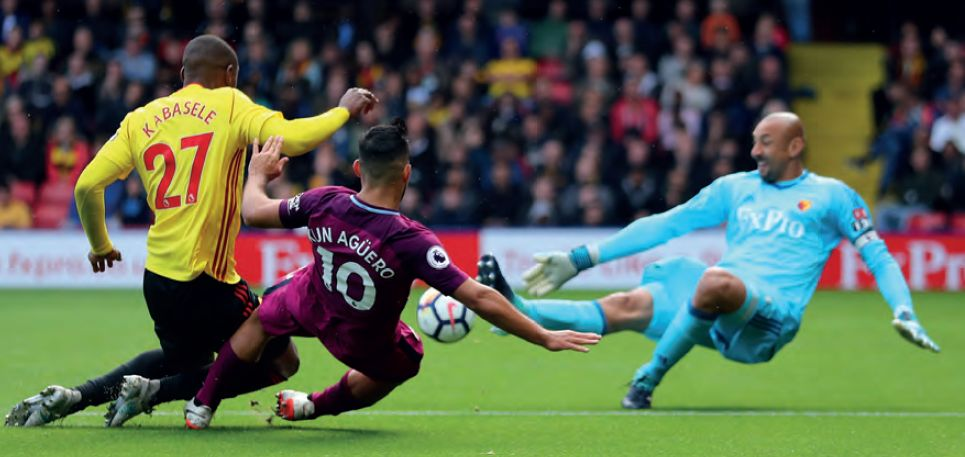 watford away 2017 to 18 aguero 3rd goal
