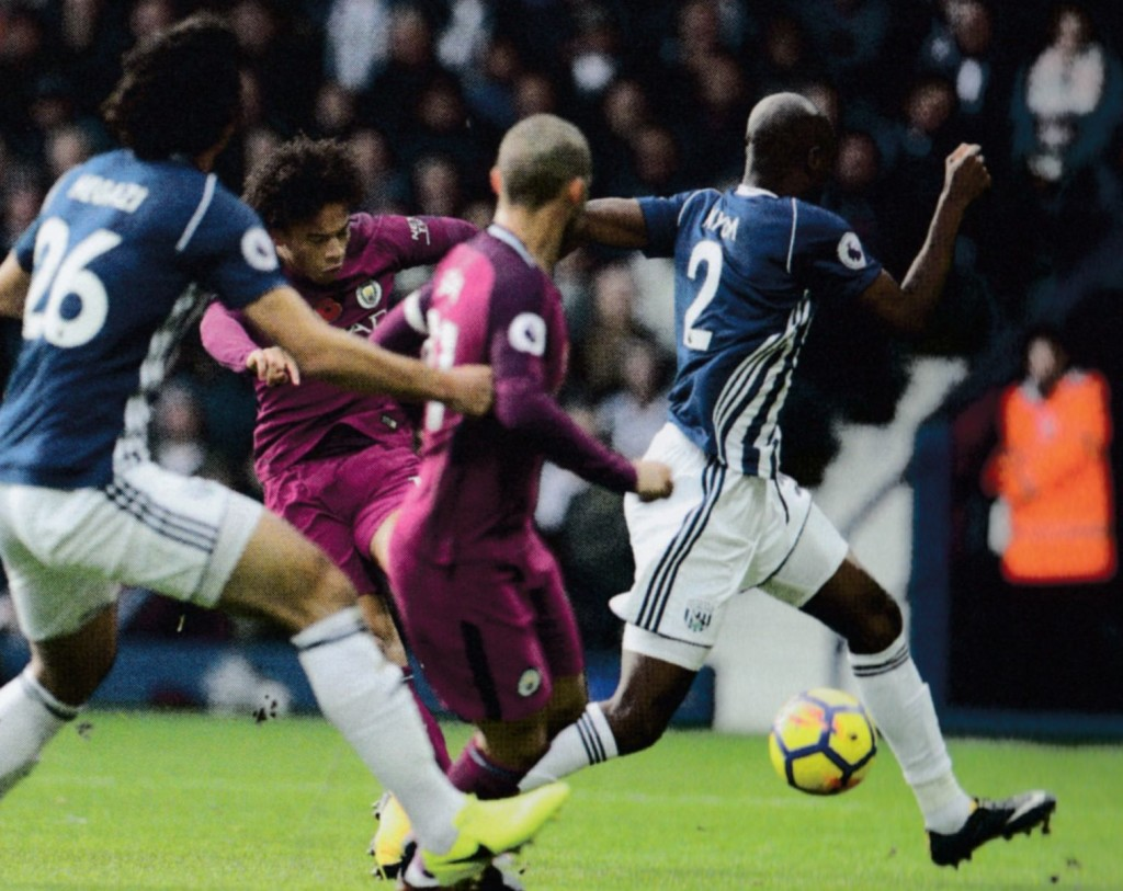 west brom away 2017 to 18 sane goal