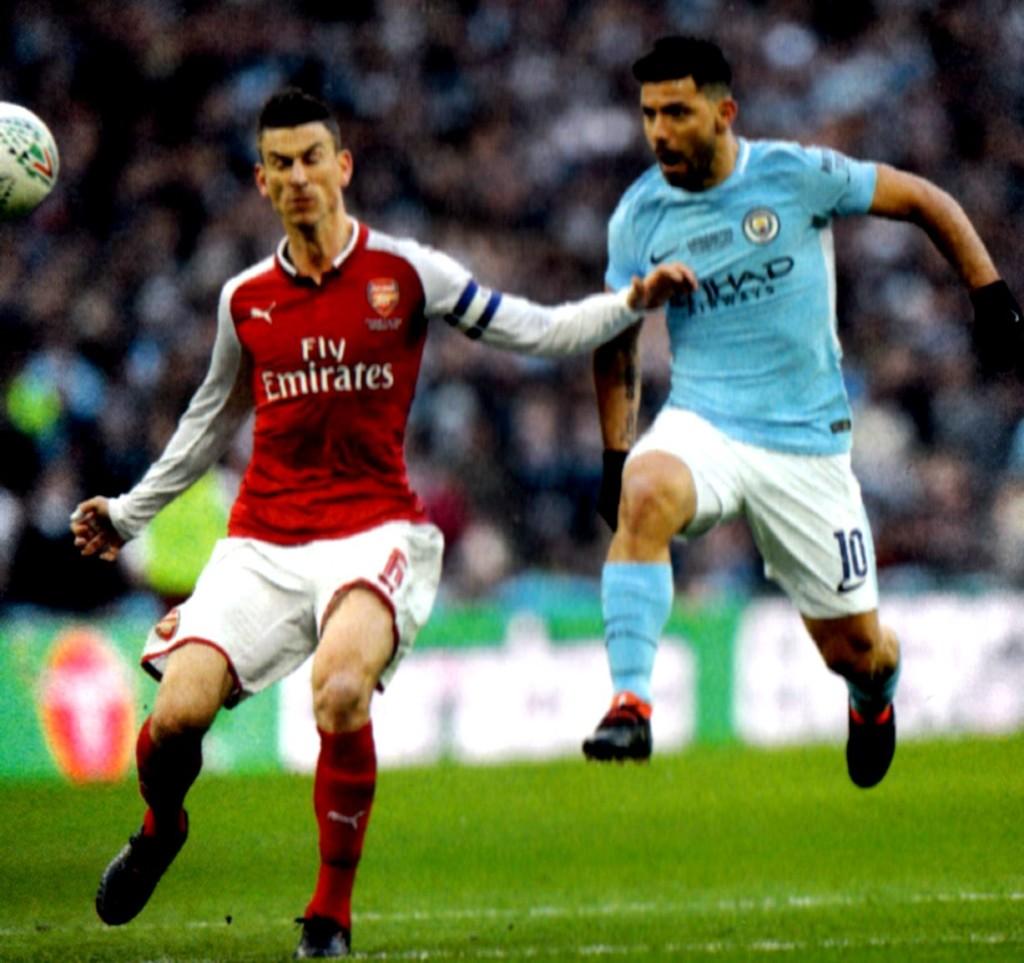 arsenal league cup final 2017 to 18 aguero goal