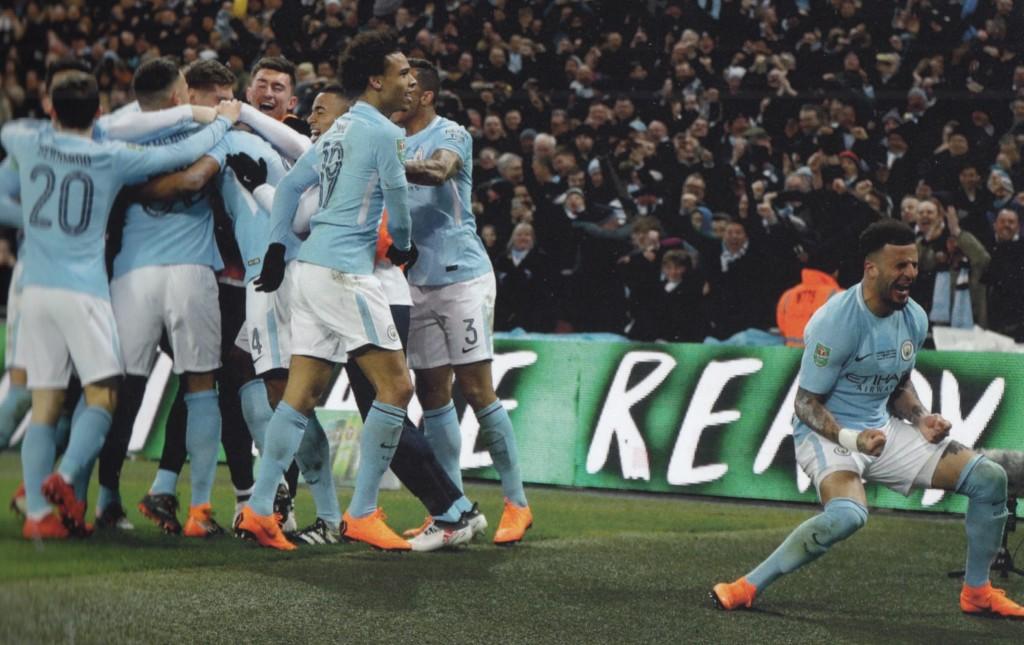 arsenal league cup final 2017 to 18 kompany goal.3