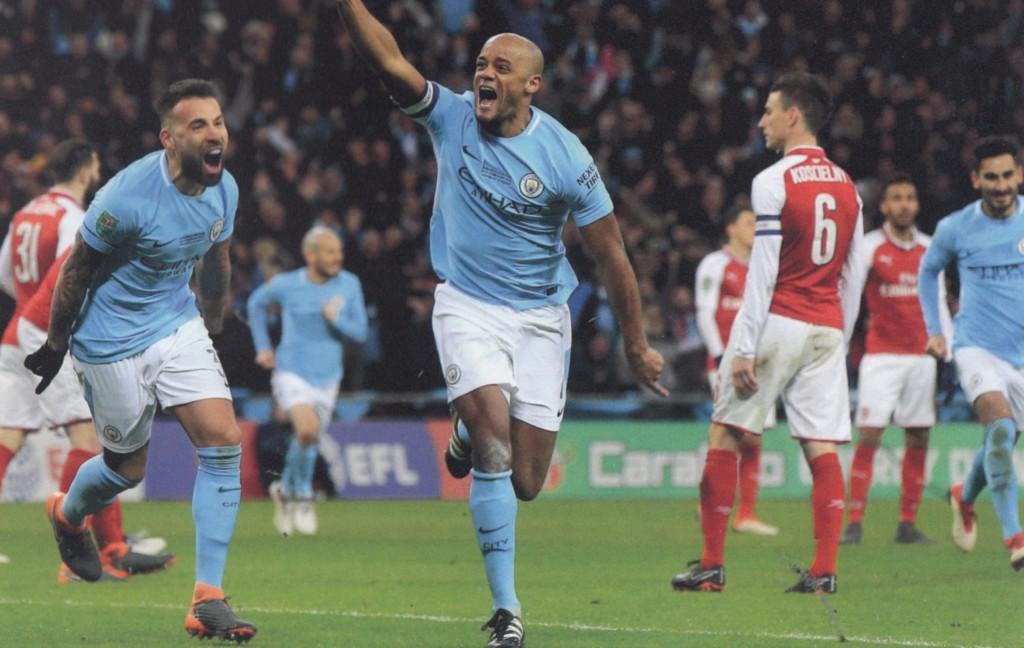 arsenal league cup final 2017 to 18 kompany goal4