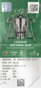 arsenal league cup final 2018 ticket