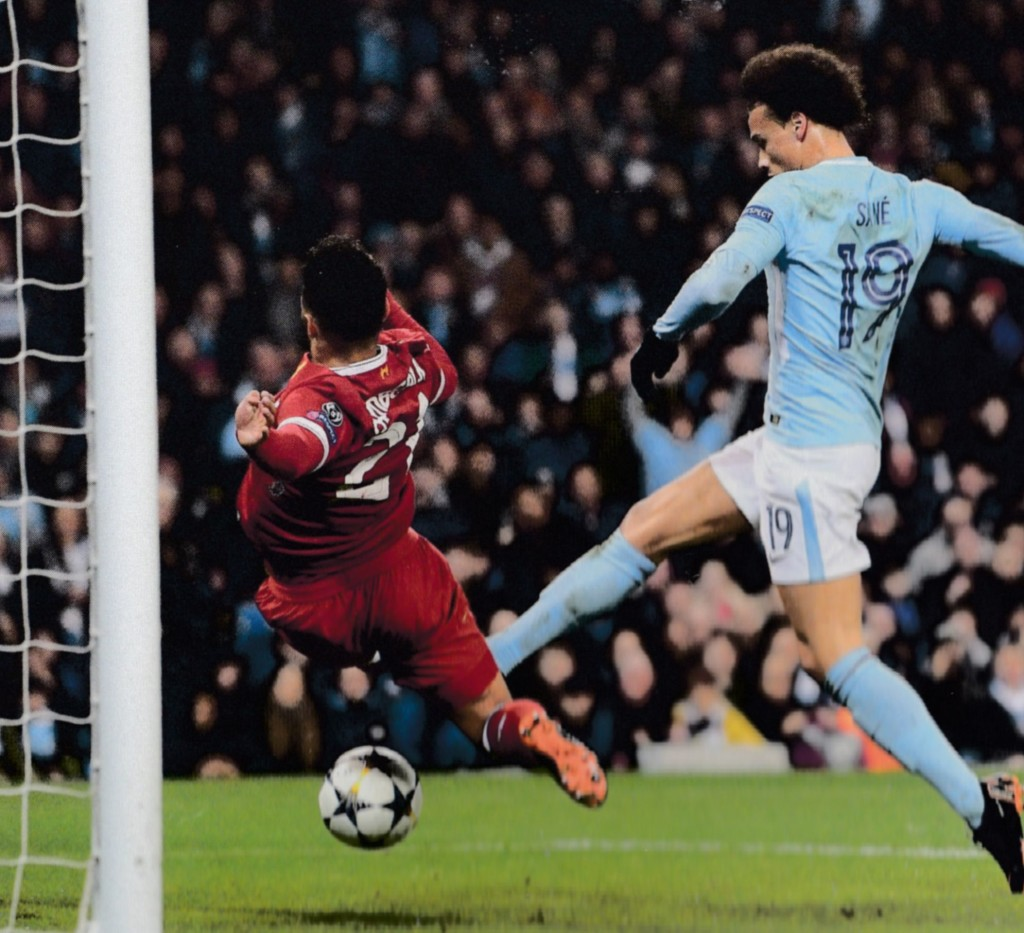 liverpool home champions league 2017 to 18 sane wrongly disallowed goal