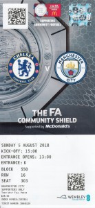 Chelsea Comunity shield 2018 to 19 ticket