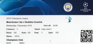 Shakthar Donetsk home 2018 to 19 ticket