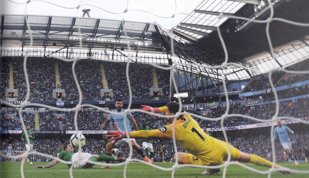 brighton home 2018 to 19 aguero goal 2-0