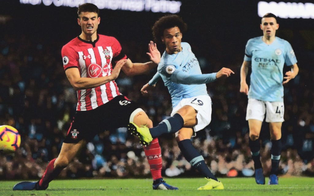 southampton home 2018 to 19 sane goal 6-1