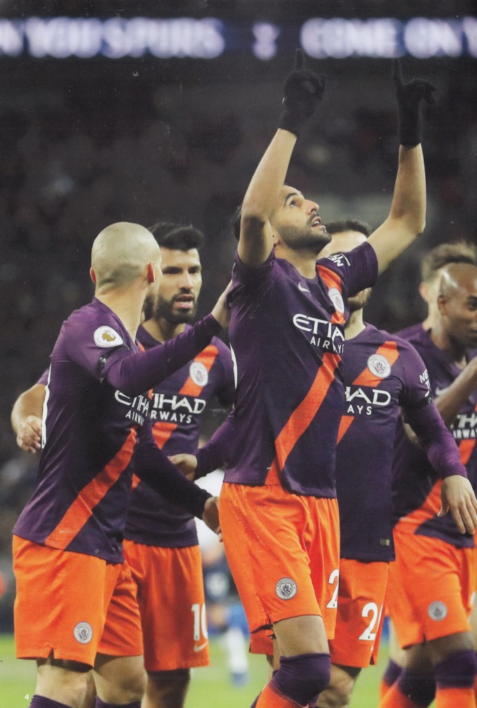 tottenham away 2018 to 19 mahrez goal