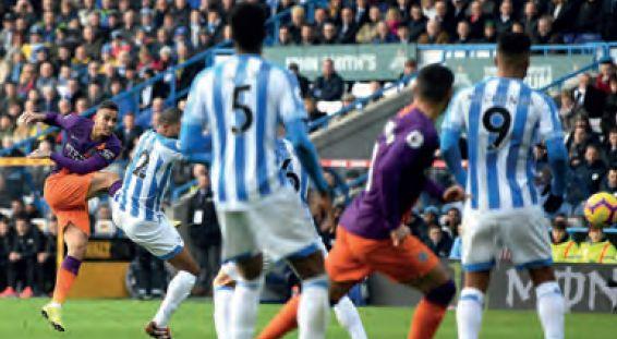 huddersfield away 2018 to 19 danilo goal