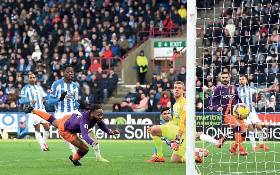 huddersfield away 2018 to 19 sterling goal