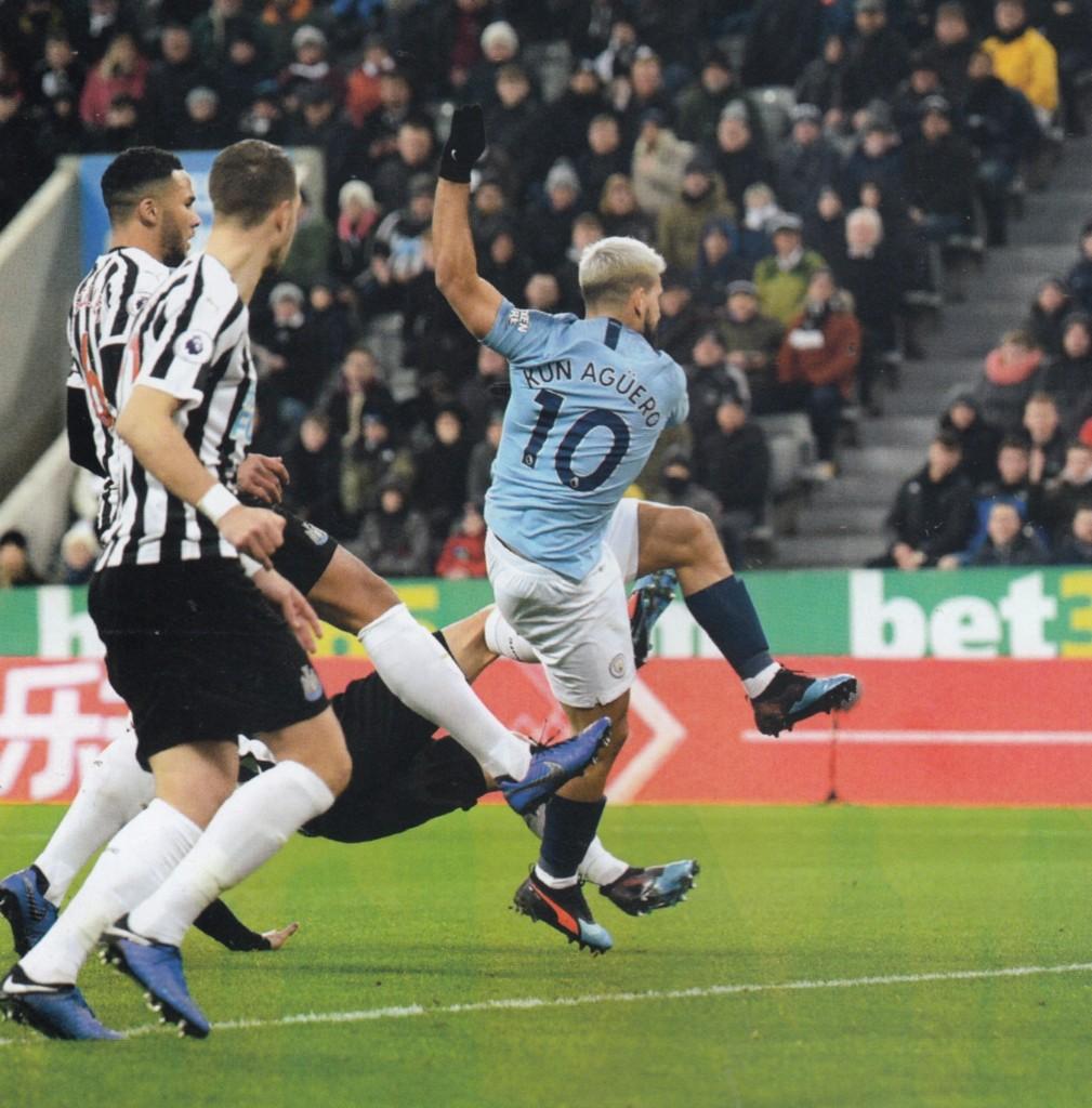 newcastle away 2018 to 19 aguero goal3